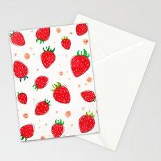 Draw strawberry Stationery Cards