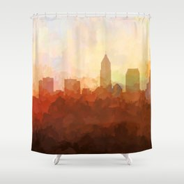 Cleveland, Ohio Skyline - In the Clouds Shower Curtain