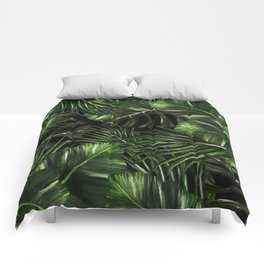 Tropical leaves pattern Comforters