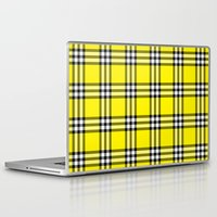 clueless Laptop & iPad Skins featuring As If Plaid by Kat Mun