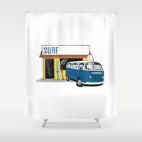 surf Shower Curtains featuring Surf by Blake Smisko