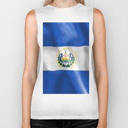El Salvador Flag Biker Tank