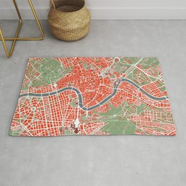 Rome city map classic Rug