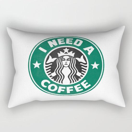 I need a coffee! Rectangular Pillow