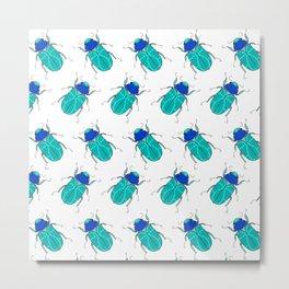 Mr Frosty Beetles Metal Print