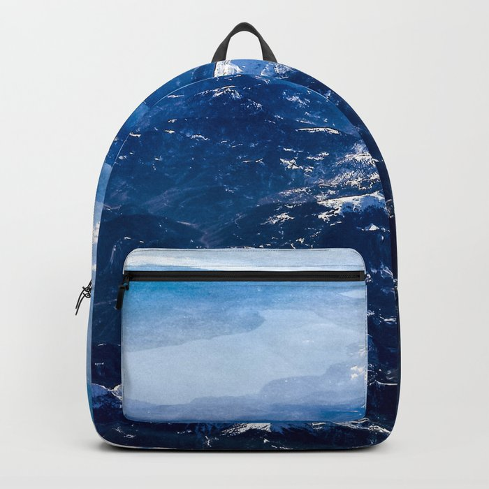 Mountains with snow winter nature Backpack