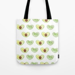 green hart´s from citron and avocado Tote Bag