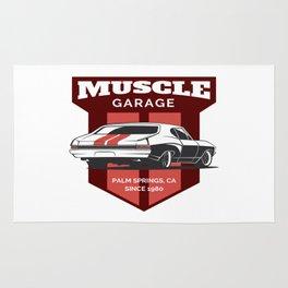 Muscle Car Garage Rug