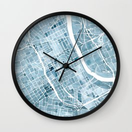 Map Nashville Tennessee Blueprint City Map Wall Clock