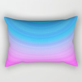 Pink & Blue Semicircles Rectangular Pillow