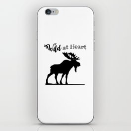 Wild at Heart-Moose iPhone Skin