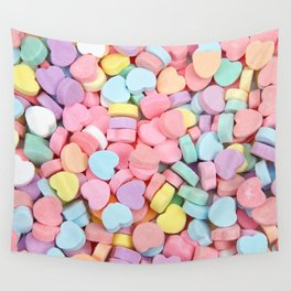 Happy Valentine's Day Candy Hearts Wall Tapestry