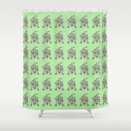 Ancient Cerberus Mythical Mythology Color Pattern Shower Curtain
