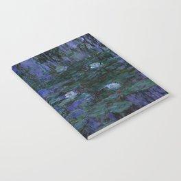 Blue Water Lilies Monet 1916- 1919 Notebook