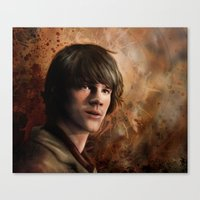 winchester Canvas Prints featuring Sam Winchester by Jackie Sullivan