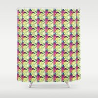 trippy Shower Curtains featuring Trippy by Idle Amusement