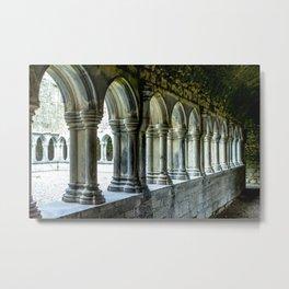 Askeaton Castle Cloisters Metal Print