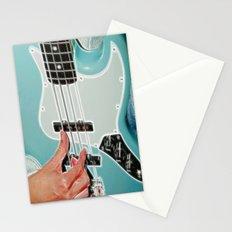 Mr Bassman Guitar fractals Stationery Cards