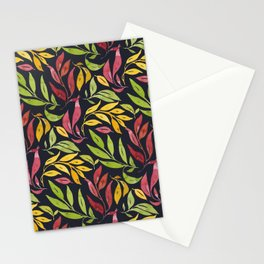 Loose Leaves - warm colors Stationery Cards