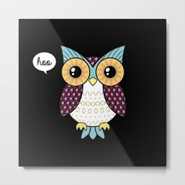 Fancy owl Metal Print