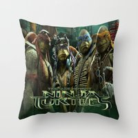 ninja turtle Throw Pillows featuring teen age,mutant,ninja turtle by store2u