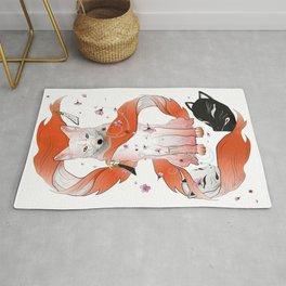 Red Kitsune Rug