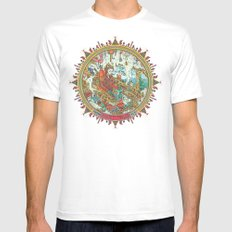 Time to Travel. MEDIUM White Mens Fitted Tee