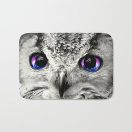 Galaxy Owl Eyes Bath Mat