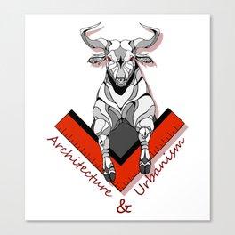 Architecture and Urbanism - buffalo symbol Canvas Print