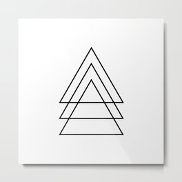 Minimal Trio Of Triangles Metal Print