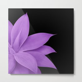 Agave Finesse #10 - Purple on Black #tropical #decor #art #society6 Metal Print