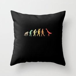 Vintage Calisthenic Evolution Fitness Gift Idea Throw Pillow