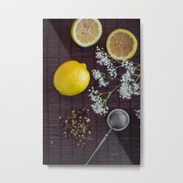 Lemon and tea Metal Print