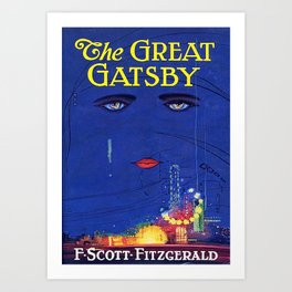 The Great Gatsby Original Book Cover Art Art Print