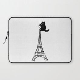 Eiffel Tower Cat Laptop Sleeve