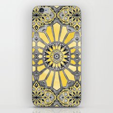 Sunny Yellow Radiant Watercolor Pattern iPhone & iPod Skin