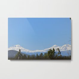 Three Sisters Mountains Metal Print