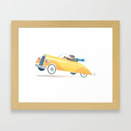 Yellow Roadster Framed Art Print