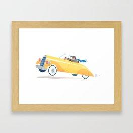 Yellow Roadster Framed Art Print