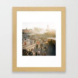 Djemaa el Fna Framed Art Print