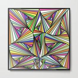 Multi Colored Line Drawing Illusion Metal Print