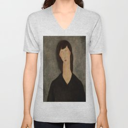 "Amedeo Modigliani ""Bust of a Woman"" Unisex V-Neck"