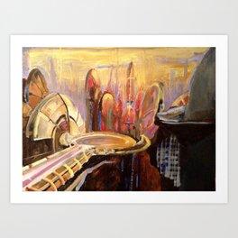 Coruscant Skyline Art Print