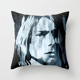 Kurt# Cobain#Nirvana Throw Pillow