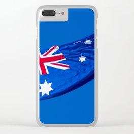 Aussie Flag Clear iPhone Case