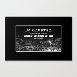 Concert Ticket Stub - Edward Sheeran 2018 Canvas Print