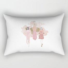 Pink and Gold Rectangular Pillow
