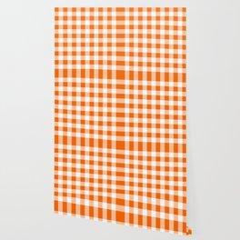 Orange Check Wallpaper