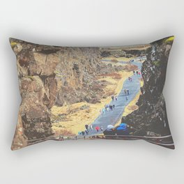 Scenic walking route from Hakid visitor center Rectangular Pillow