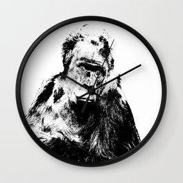 Gorilla In A Pensive Mood Portrait #decor #society6 Wall Clock